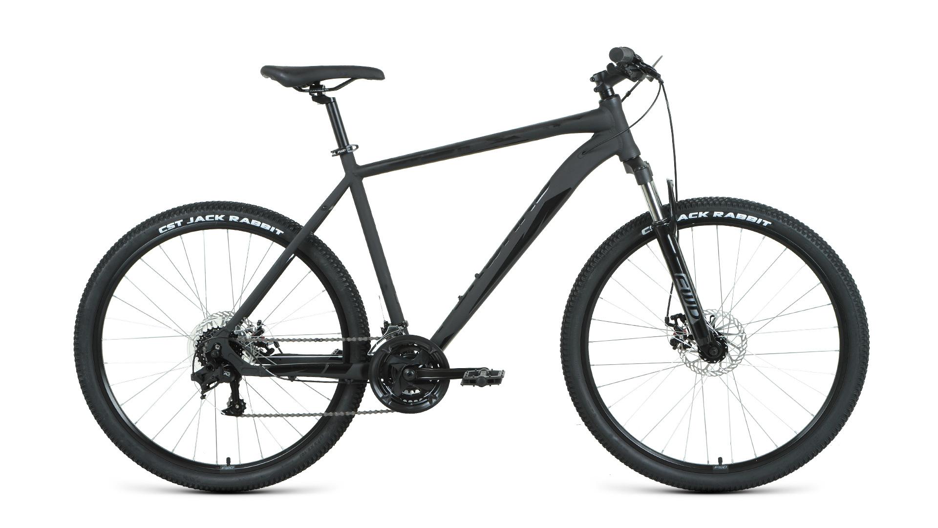 Горный (MTB) велосипед Forward Apache 2.0 Disc 27.5 (2020) 21 черный/матовый/черный (требует финальной сборки)